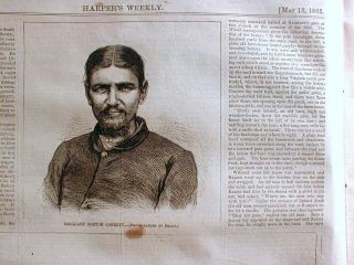 1865 Illustrated Civil War Newspaper Lincoln Assassin John Wilkes Booth Killed