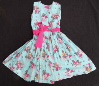 Gorgeous Joules Blue Summer Girls Party Dress 6 6Y