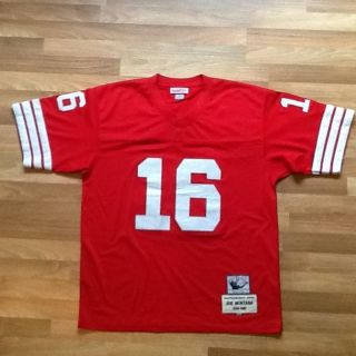 Mitchell and Ness Joe Montana San Francisco Forty Niners 49ers Throwback Jersey