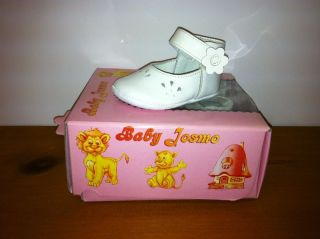 Kids Baby Josmo Soft Soles Girls Velcro White Patent Shoes