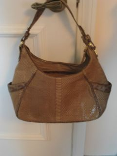 Authentic Brahmin Juliette Leather Hobo Handbag