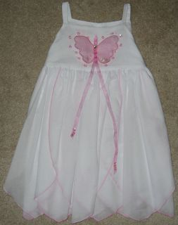 Kate Mack Girls Size 12 Months Pink Butterfly Princess Dress