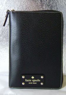Kate Spade Wellesley Zip Around Personal Planner 2013 Black