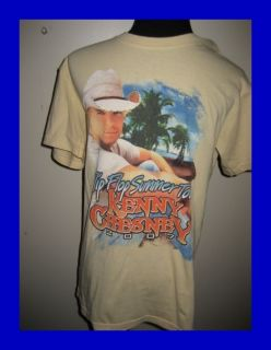 Kenny Chesney 2007 Flip Flop Summer Tour T Shirt s Mint