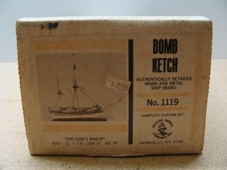 Marine Model Company 1119 Bomb Ketch Wood Boat Model Kit Lions Whelp