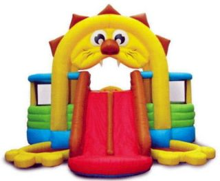 New Huge Lion Den Inflatable Bounce House Slide Kids Bouncer 16 x 15 x