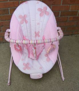Kids II Bright Starts Baby Bouncer Vibrating Seat Pink