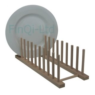 Wood Wooden Kitchen Dinner Plates Holder Stand Rack Dish Drainer Long