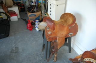 Textan Kristie Peterson Barrel Racing Saddle 15