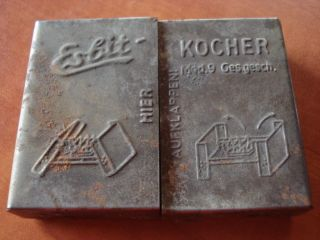 Antique WWII Germany Esbit Kocher Tin Box Mod 9 Empty Collectors