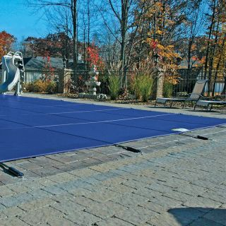 15x30 Swimming Pool Blue Mesh Safety Winter Cover 12 Yr