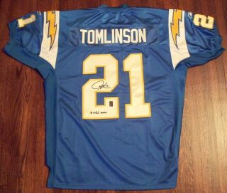 LaDAINIAN TOMLINSON San Diego Chargers Signed Authentic NFL MVP Jersey