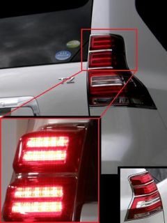 2011 2012 2013 TOYOTA LAND CRUISER PRADO 150 LED TAILLIGHTS CHROME JP