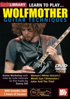 Learn to Play Wolfmother Guitar Techniques DVD D Gill