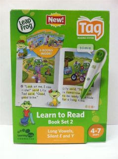 Leap Frog Tag Learn to Read Phonics Books Long Vowel Set 6 Books