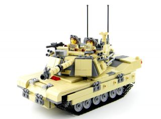 Custom Lego Army Tank M1A1 Abrams Main Battle Tank Complete Set