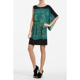 BCBG MAXAZRIA Womens Leila Scarf Sleeve Dress