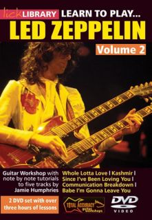 LICK LIBRARY Learn to Play LED ZEPPELIN Volume 2 Guitar Instructional