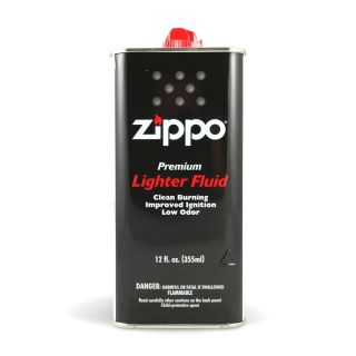 12 oz ZIPPO LIGHTER FLUID CAN FUEL FLUID FOR ALL ZIPPO POCKET LIGHTERS