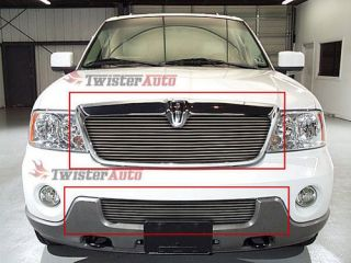 2003 2004 Lincoln Navigator Aluminum Billet Grille Combo Grill 03 04