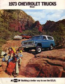 1973 Chevrolet Blazer Sales Brochure Literature Book