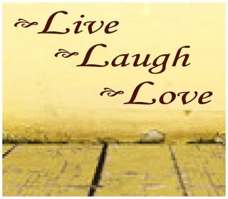 LIVE LAUGH LOVE Vinyl Lettering Wall Decals Home Decor Bedroom House