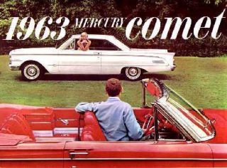 1963 Mercury Comet Sales Brochure Literature Book