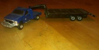 64 Custom F350 Flat Bed with Ertl GOOSE Neck Trailer