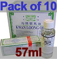 Bulk Sale 10x Kwan Loong Medicated Oil 57ml Singapore