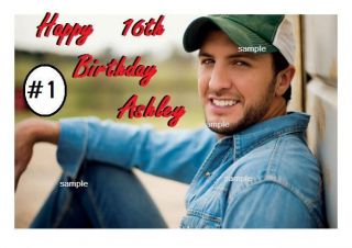 Luke Bryan Edible Cake Cupcake Cookie Toppers