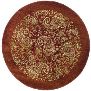 Lyndhurst Collection Paisley Red Multi Rug 5 3 Round