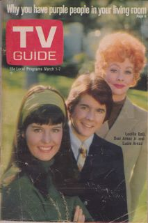 GUIDE Mar 1 7 1969 Issue 831 69 Lucille Ball Desi Arnaz Jr Lucie Arnaz