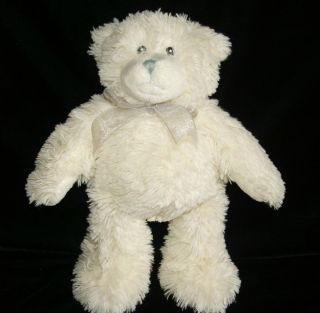Ivory Cream Teddy Bear Plush Grey Nose Gray Macys