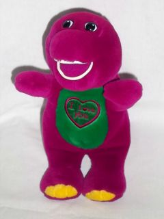 LYONS Plush SINGING BARNEY Dinosaur Sings I Love You Stuffed Singing