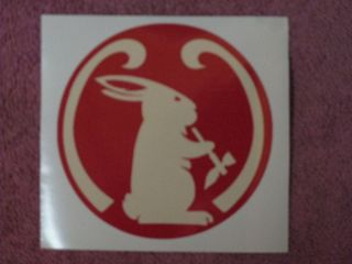 Mad River Kayak Canoe Rabbit Smoking Pipe Decal Sticker