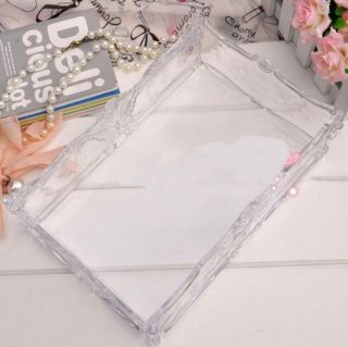 Beautiful Roses King Size Acrylic Cosmetic Box Crystal Jewelry Box