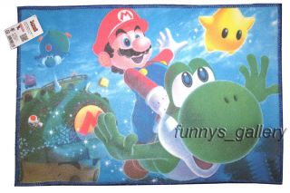 Super Mario Bros Bathroom Home Area Rug Mat Carpet