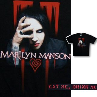 Marilyn Manson Peeking Eat Me Drink Me T Shirt 2XL New