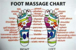 Reflexology Wallet Card Foot Massage Acupuncture Health