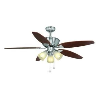 New Hampton Bay Carrolton 52 in Brushed Nickel Ceiling Fan Includes