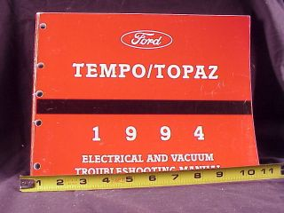 1994 Ford Tempo Mercury Topaz Electrical Manual Orig