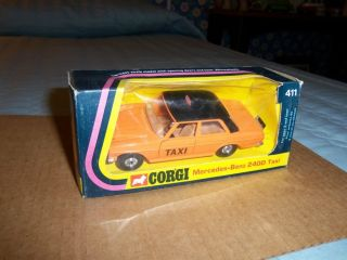 Vintage Corgi Mercedes Benz 240D Taxi Mint in Box