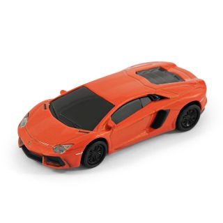 Aventador Sports Car USB Memory Stick Flash Pen Drive 8Gb Orange