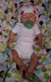 Beautiful reborn jesmar baby girl Chelsea sleeping newborn preemie