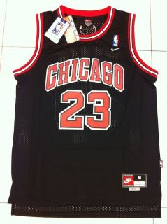 Michael Jordan Chicago Bulls 23 Swingman Black Away Jersey