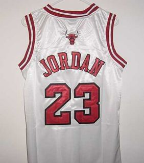 Michael Jordan Chicago Bulls New White Jersey with Tags