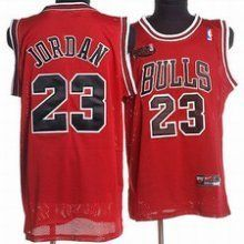 Nike Michael Jordan Chi Bulls Jersey Red w NBA Finals Patch Large 50