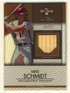 Mike Schmidt 2012 Topps Triple Threads Unity Bat 11 27