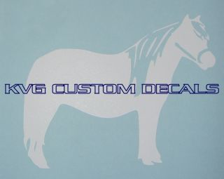 Miniature Horse Decal 5 1 2 x 4 1 4 White