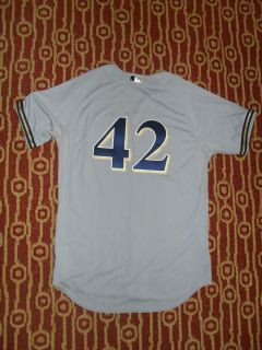 2011 Jonathan Lucroy Game Used Worn Milwaukee Brewers Jersey MLB HOLO